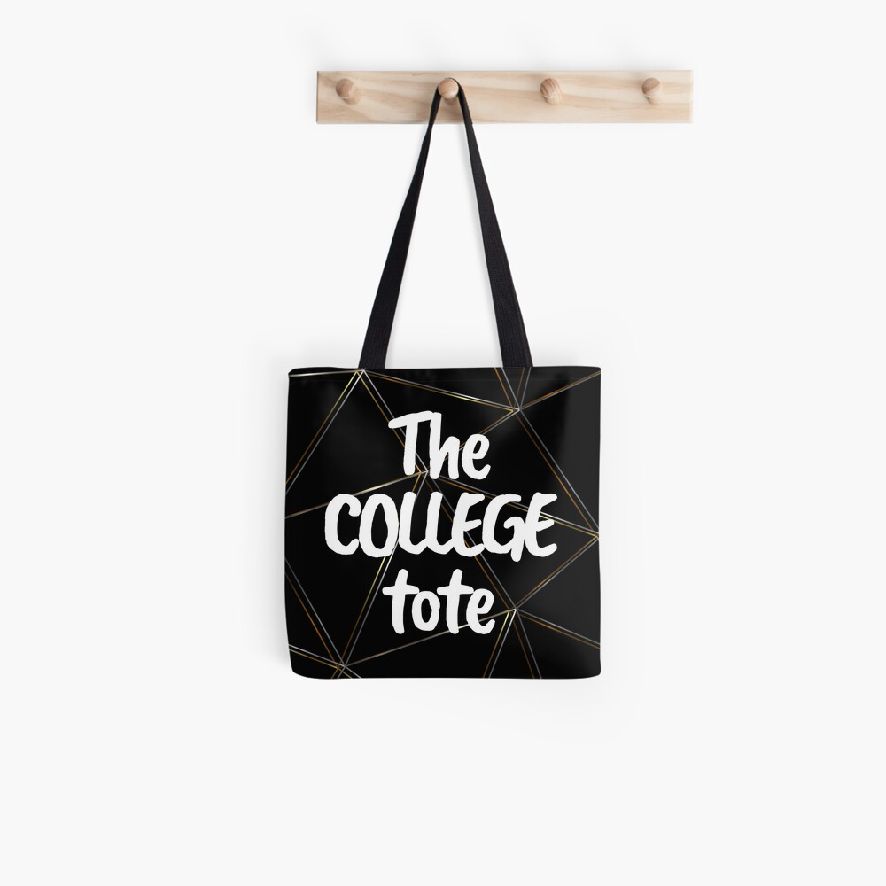 The college tote - silver gold black bag Tote Bag