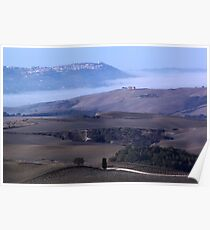 Montalcino wiew Poster
