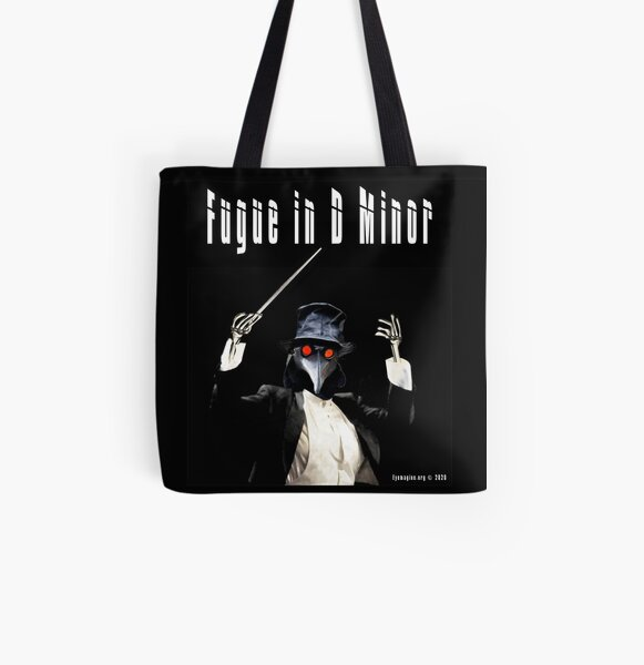 Fugue in D Minor All Over Print Tote Bag