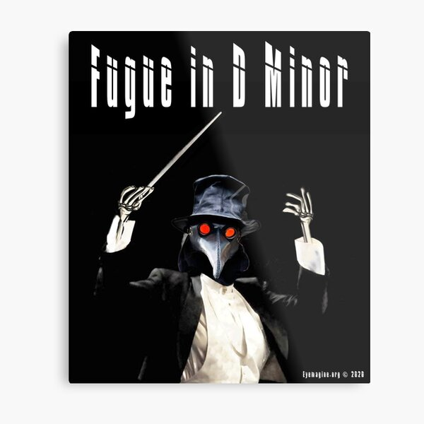Fugue in D Minor Metal Print