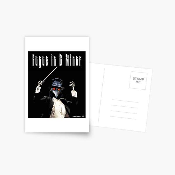 Fugue in D Minor Postcard