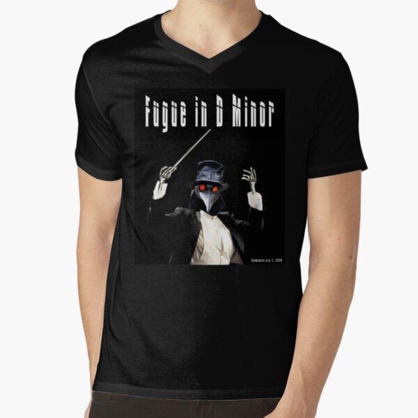 Fugue in D Minor V-Neck T-Shirt