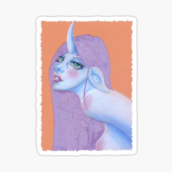 pastel unicorn girl Sticker