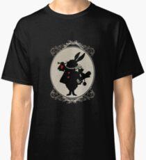 Alice in Wonderland White Rabbit Oval Portrait Classic T-Shirt