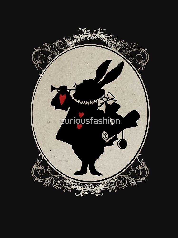 Alice in Wonderland White Rabbit Oval Portrait | Unisex T-Shirt