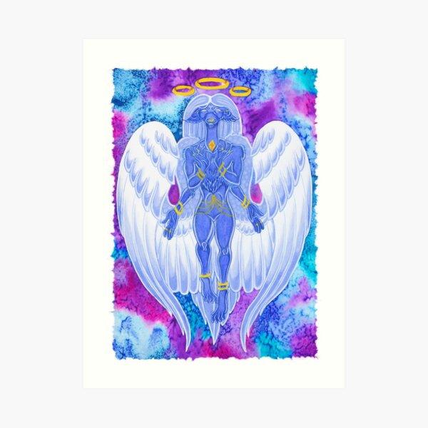 divine beast dragon watercolour Art Print