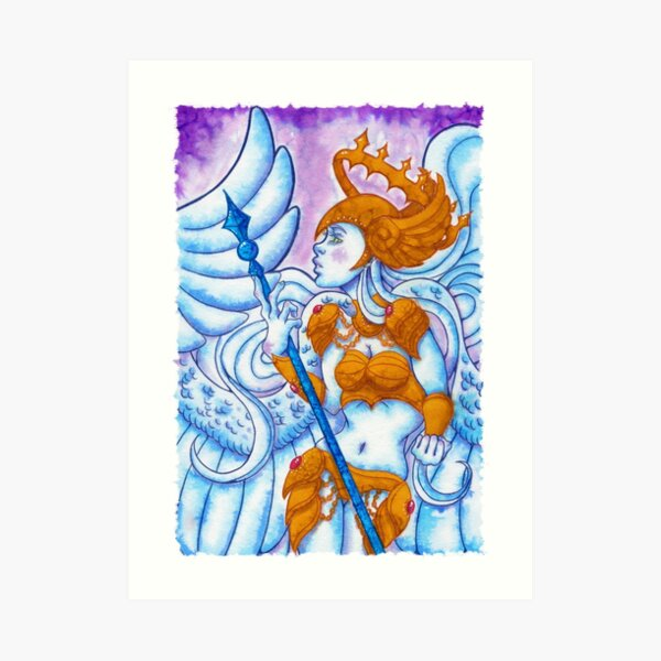 valkyrie painting Art Print