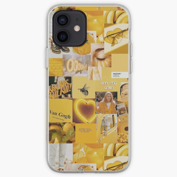Yellow Aesthetic Collage iPhone Soft Case