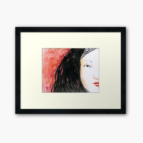 Blood Red Tokyo Bed Framed Art Print