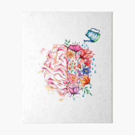 Mental Health Matters - Watercolor Design Art Board Print