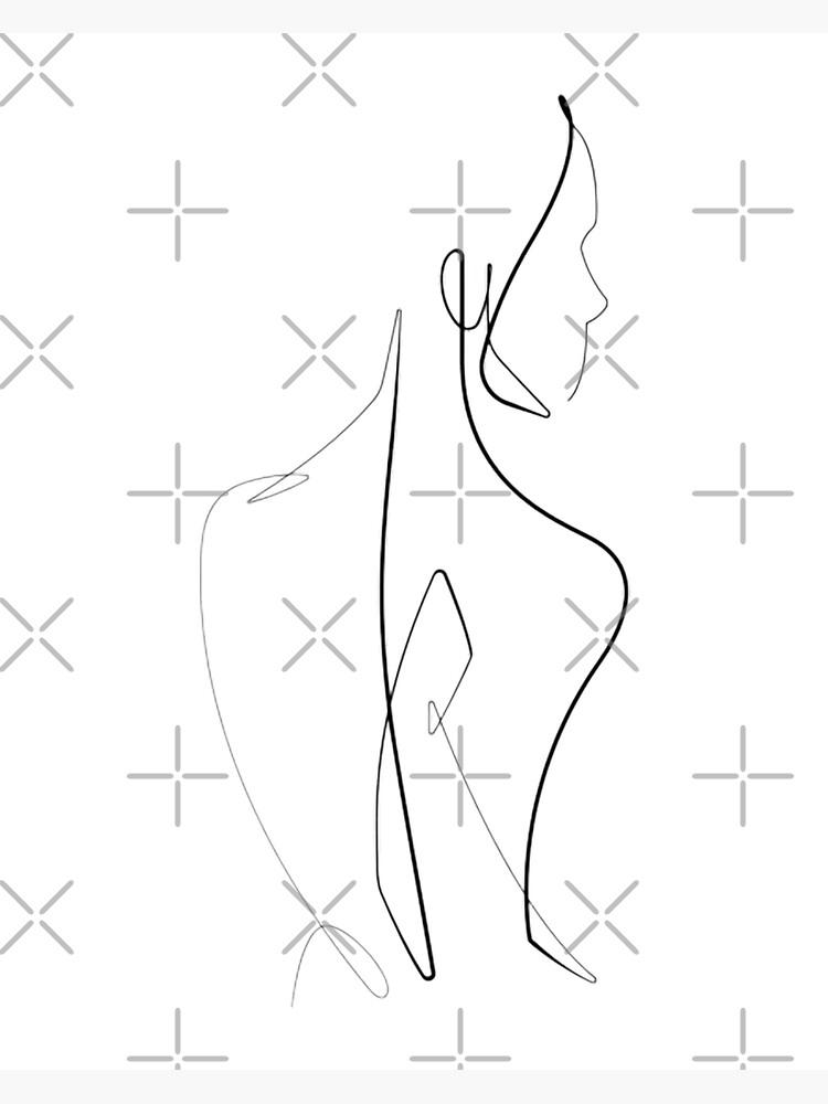 Women Body Minimalist Line Art Greeting Card By Gabriellechanel Redbubble