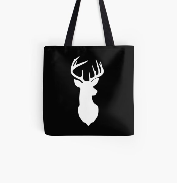 Drawstring Backpack Reindeer Caribou Plaid Rucksack