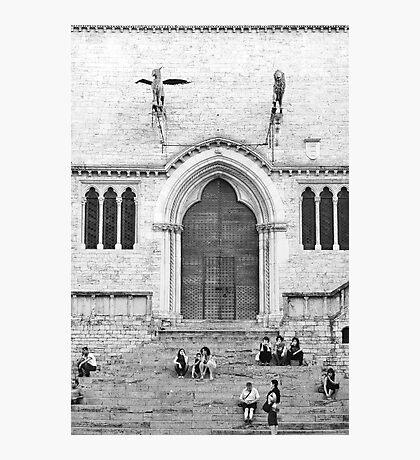 Perugia - main square Photographic Print