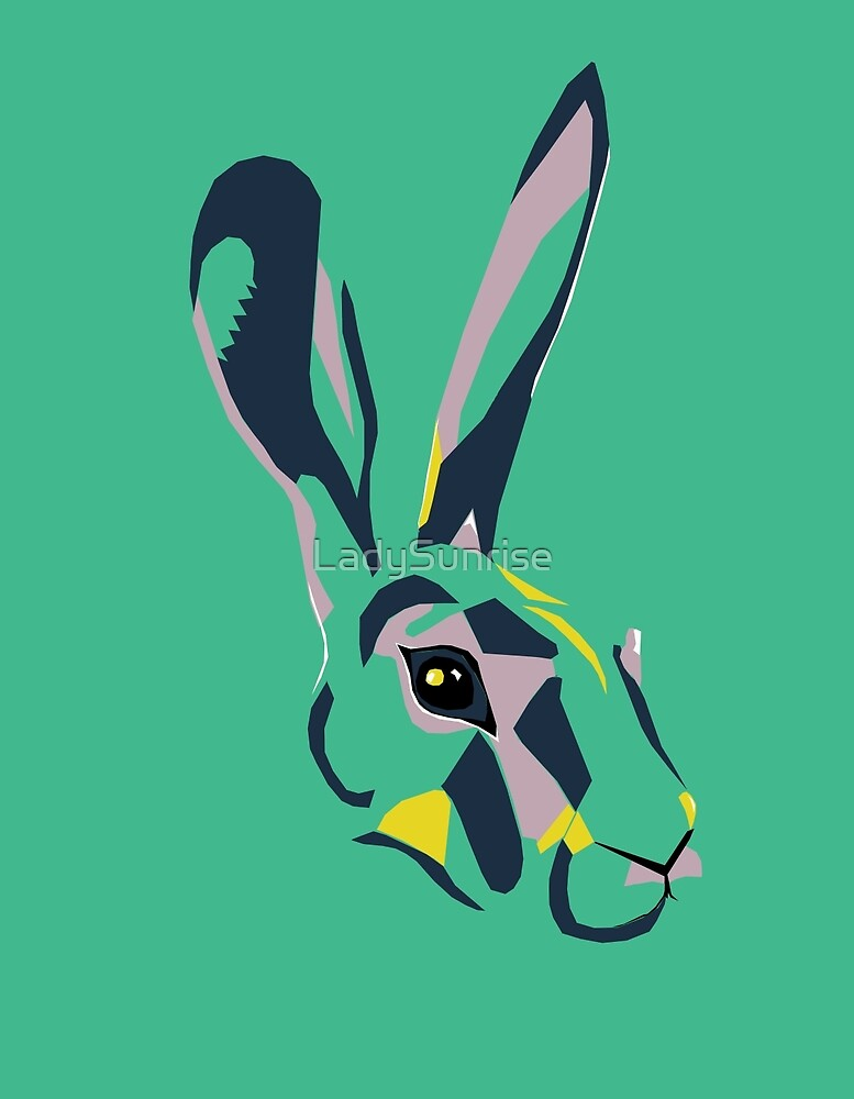 Mr Hare in Green by LadySunrise