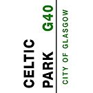 Celtic Park G40 - London street sign style iPhone 4/4S case by Vagelis Georgariou