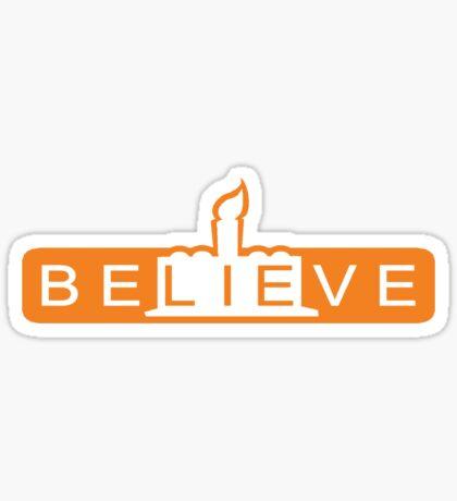 beLIEve orange Sticker