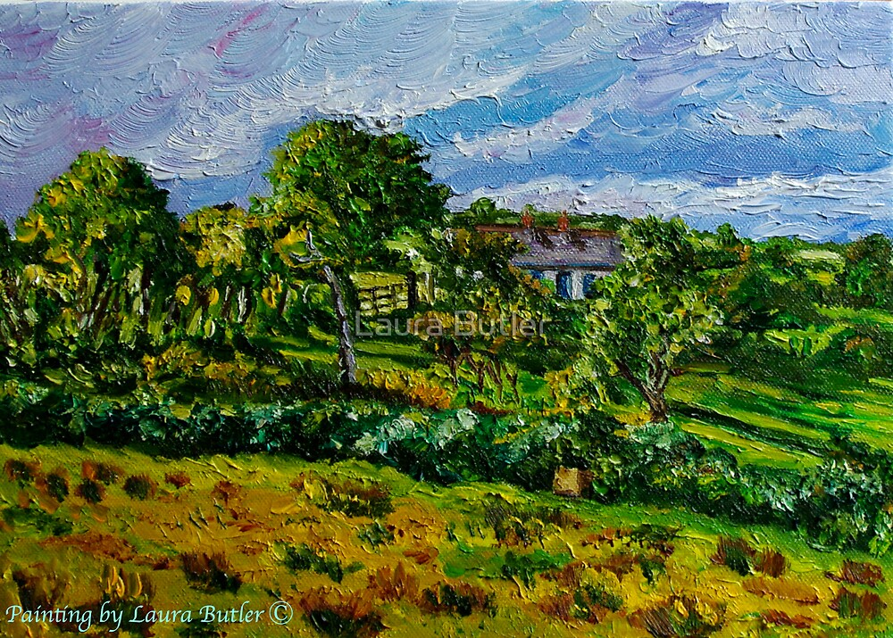 """""""Glimpsed by Memory, Cottage in Landscape, County Antrim"""" by Laura Butler"""