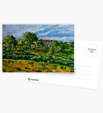 """""""Glimpsed by Memory, Cottage in Landscape, County Antrim"""" Postcards"""
