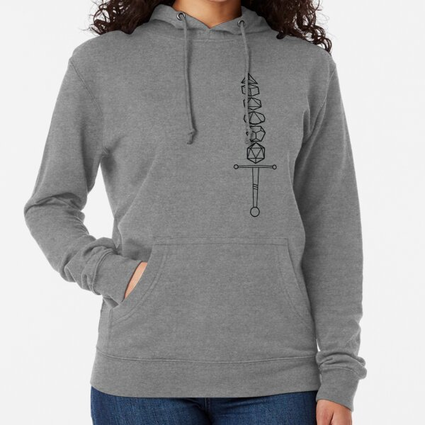Choose Your Weapon - Dark Dice Sword Lightweight Hoodie