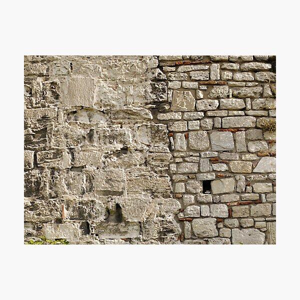 Wall repairs in Yedikule Hisarı (Yedikule Fortress) Photographic Print