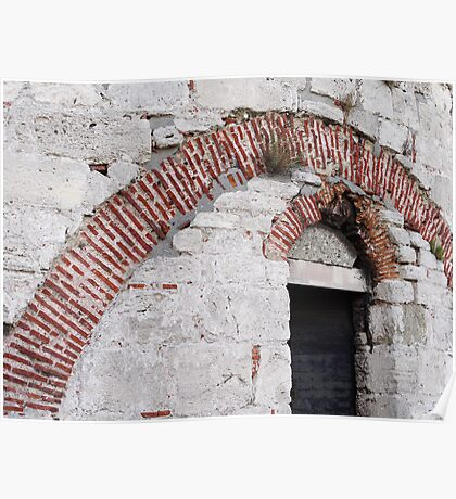 Brick arches in Yedikule Hisarı (Yedikule Fortress) Poster