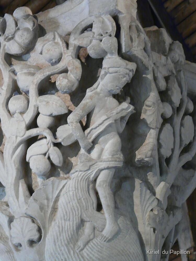 Cluny - stone capital by Kiriel