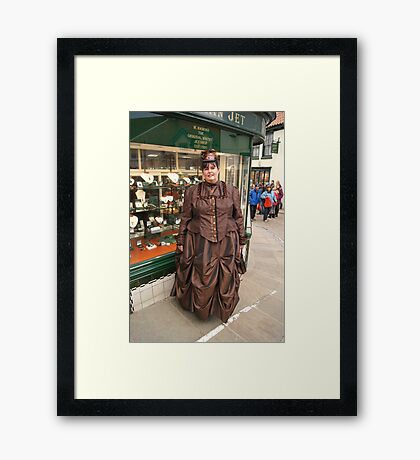The Goth Weekend at Whitby, Oct 2011. 41 Framed Print