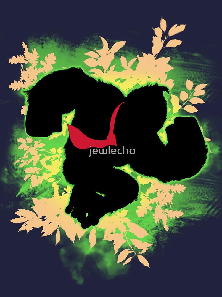 Super Smash Bros. Green Donkey Kong Silhouette by jewlecho