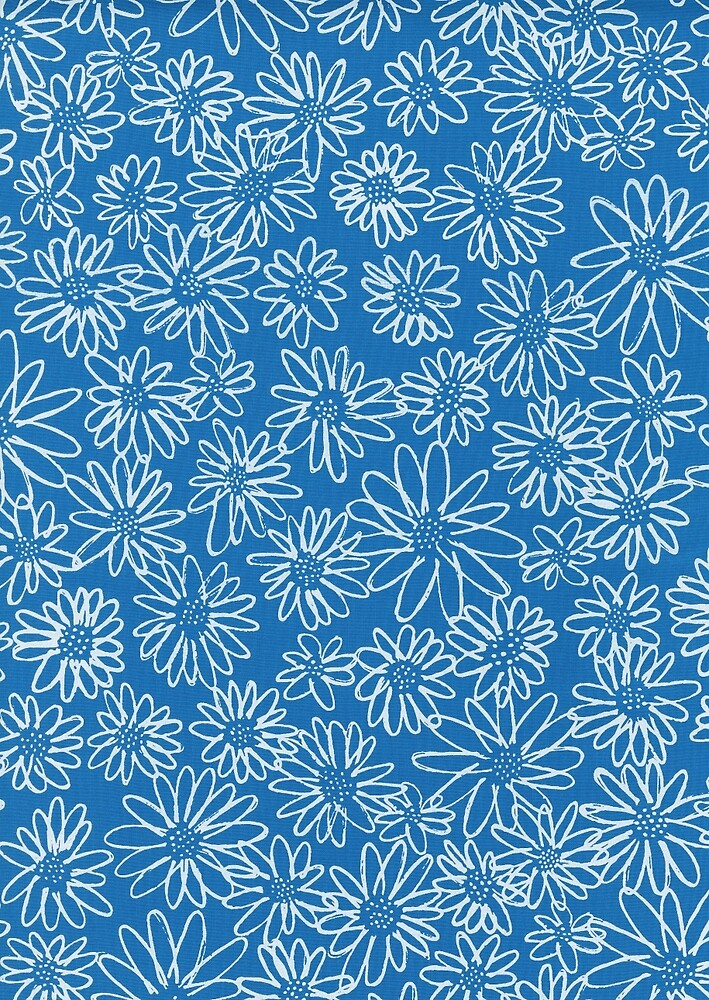 Cyan - Floral - Fabric Design by sirllamalot