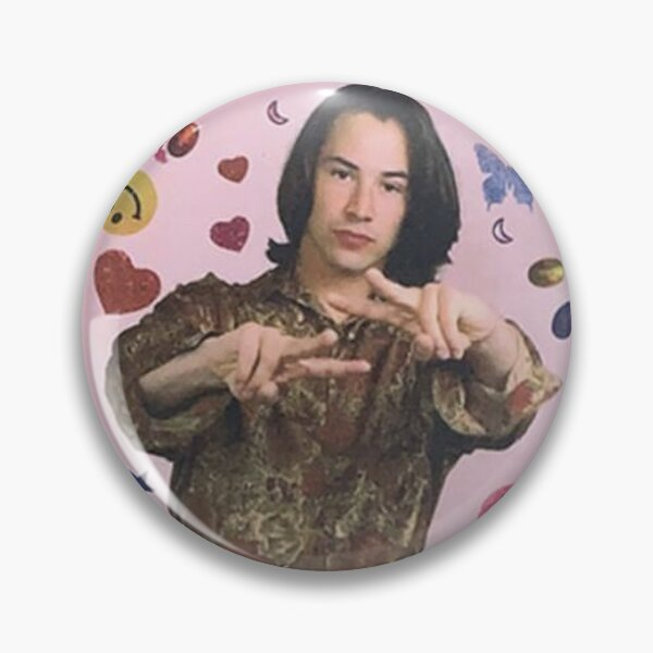 Keanu Reeves ICONIC 90s Teen Mag Pin