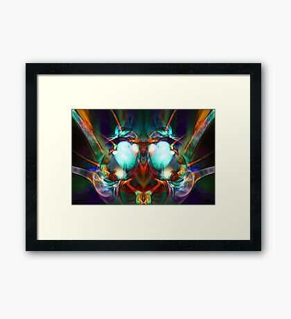 Neon City Lights Framed Print