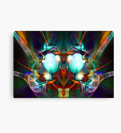 Neon City Lights Canvas Print