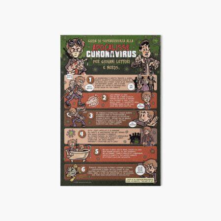Guida di Sopravvivenza all'Apocalisse Coronavirus (Italiano) Art Board Print