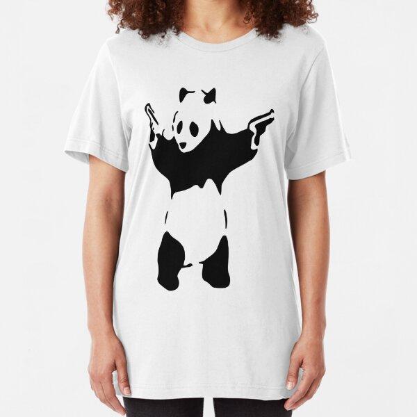 Banksy Panda Slim Fit T-Shirt