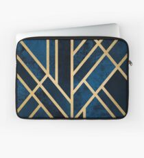 Art Deco Mitternacht Laptoptasche