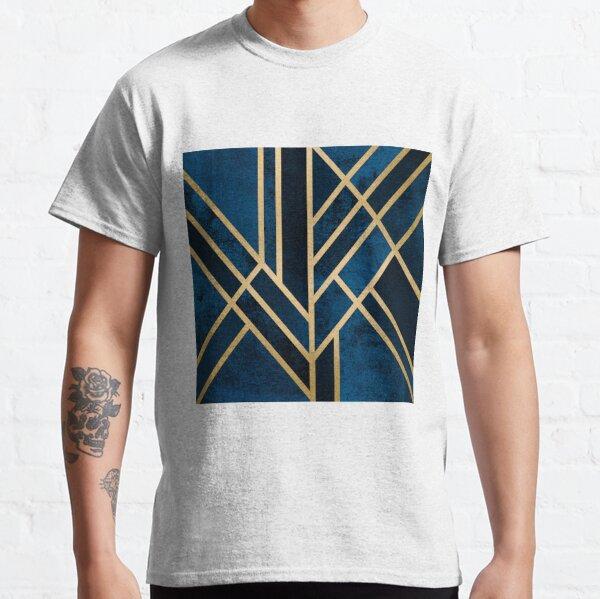Art Deco Mitternacht Classic T-Shirt
