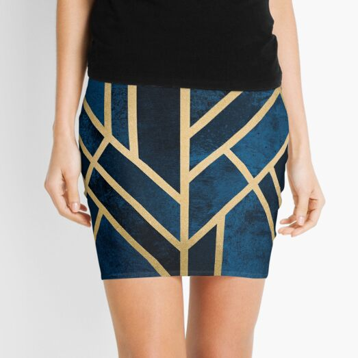 Art Deco Midnight Mini Skirt