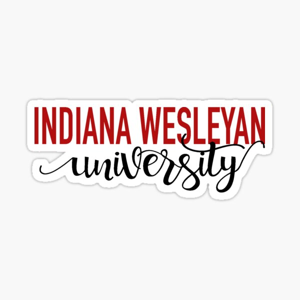 Indiana Wesleyan script Sticker