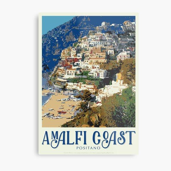 Amalfi Positano Travel Poster (PCD3175) Metal Print