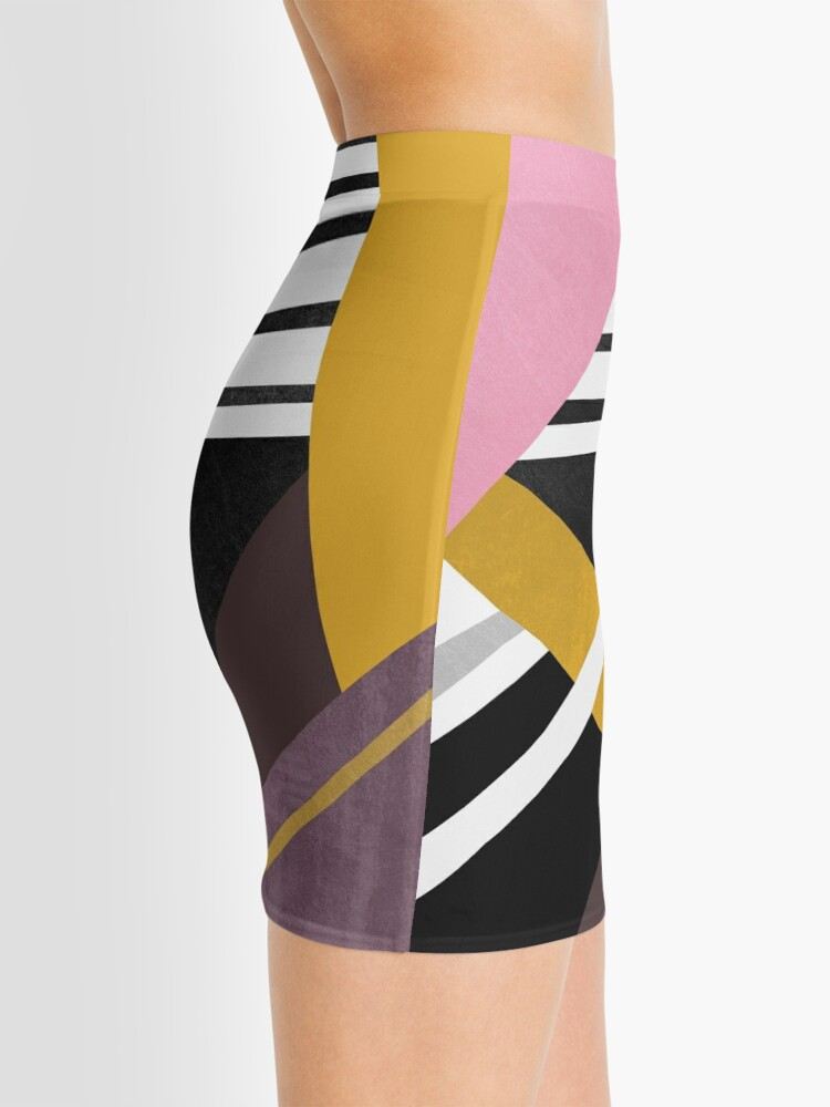Alternate view of Graphic Combination  Mini Skirt