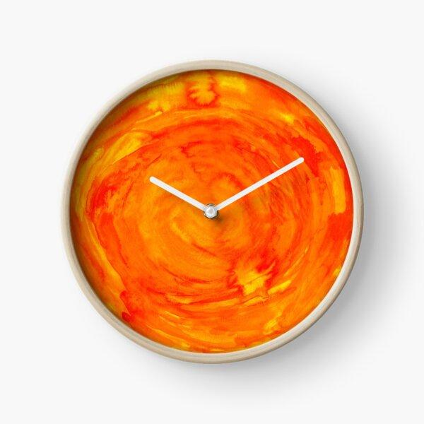 bright watercolor sun Clock