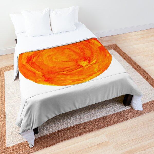 bright watercolor sun Comforter