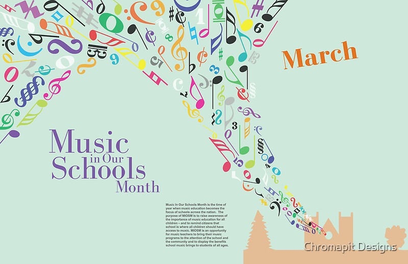 """""""March - Music in Our Schools Month"""" Posters by Chromapit ..."""
