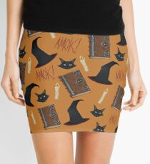 Just a Bunch of Hocus Pocus (Orange) Mini Skirt