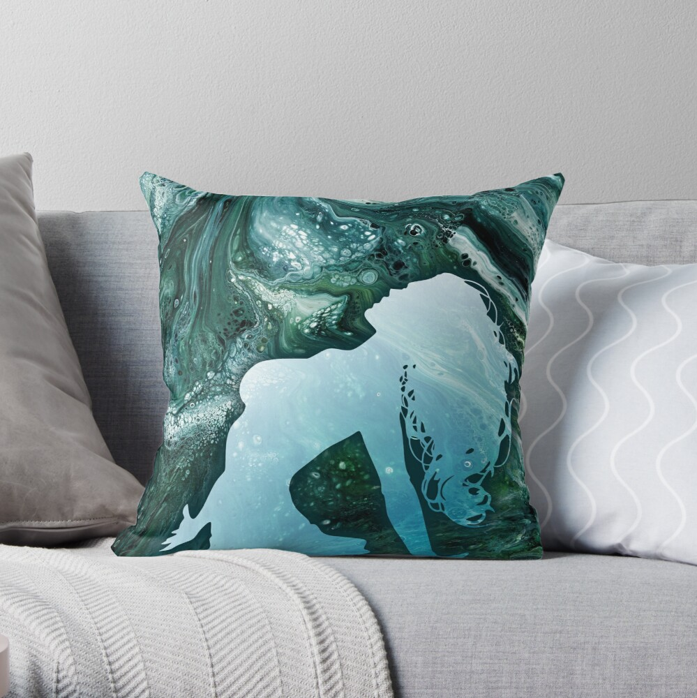 Classical Element: Water Throw Pillow