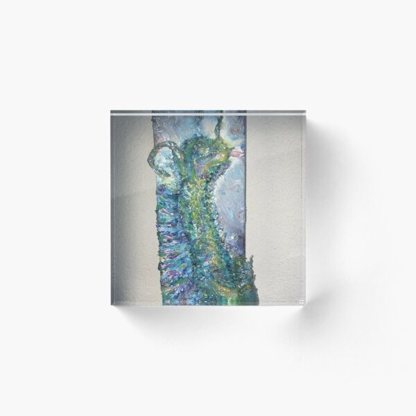 Tarry the Water Dragon Acrylic Block