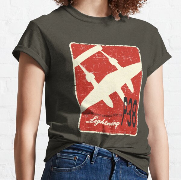 P-38 Lightning Pilot Training Manual - Grunge Style Classic T-Shirt