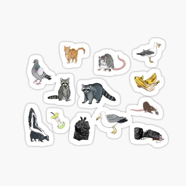 Trash Panda And Friends Pattern Sticker