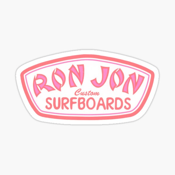 ron jon surf shop pink Sticker