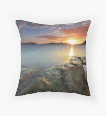 Sisiman Bay Sunset Throw Pillow